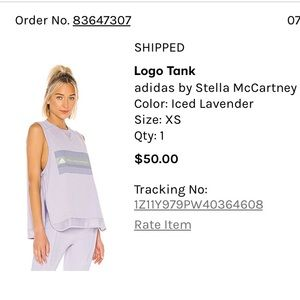 Adidas Stella McCartney tank and legging SET